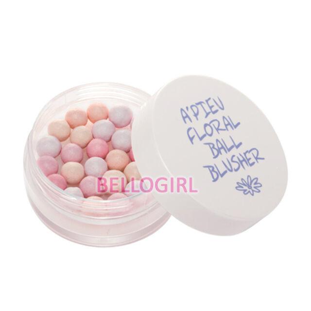 A'PIEU Floral Ball Blusher [ #1 Peach Pink ] 10g BELLOGIRL