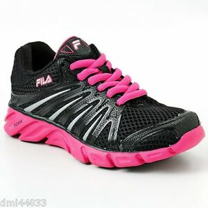 Image is loading NEW-FILA-Black-Hot-Pink-Silver-CoolMax-Swyft-