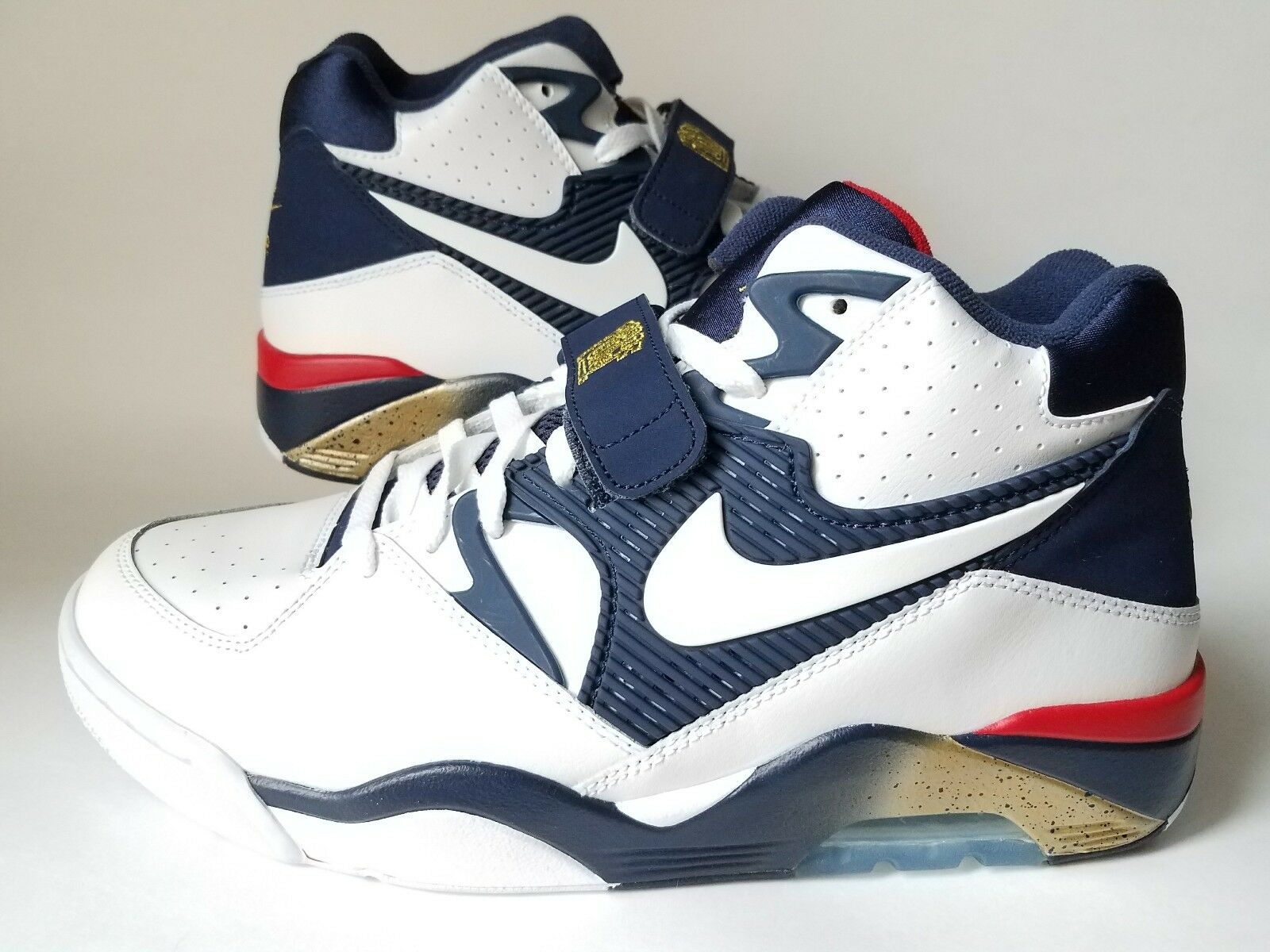 NEW NIKE AIR FORCE 180 Olympics MENS SZ 11.5 White/Blue/Gold 310095-100 Barkley