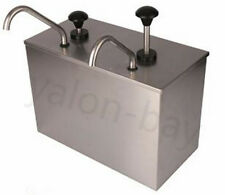 2 Bucket Sauce Dispenser Pump Squeeze Condiment Dispensing Stainless Steel Y