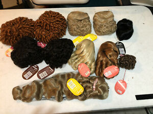 Monique-Collection-Doll-Wig-Lot-of-11-Various-Sizes-Colors-amp-Styles