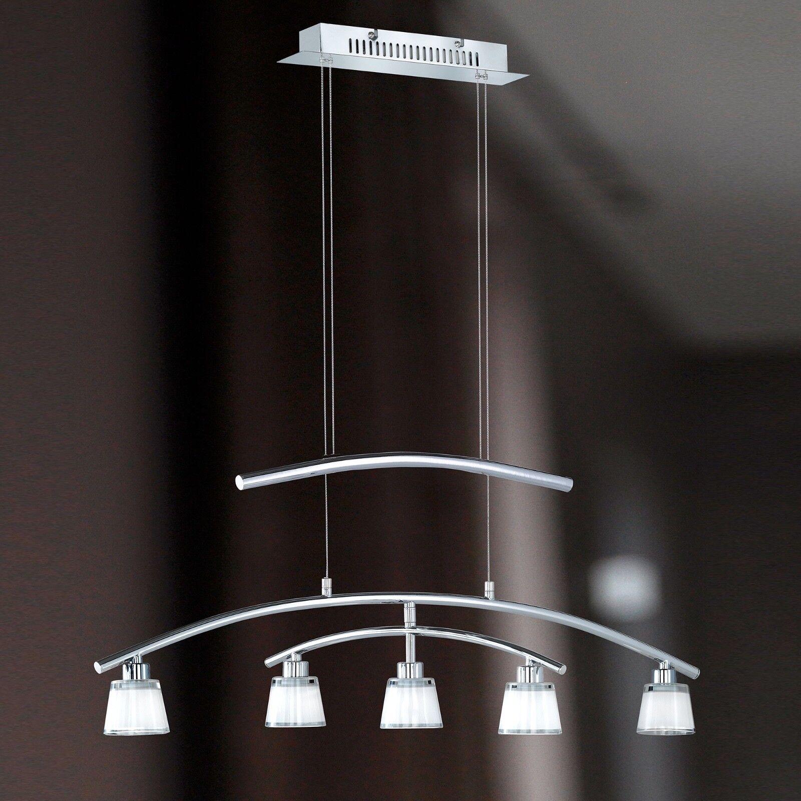 Wofi Pendelleuchte Talea 5-flg Chrom Glas Kegel Kegel Kegel weiß verstellbar 100 Watt EEK C | Stil  |  1d94f6
