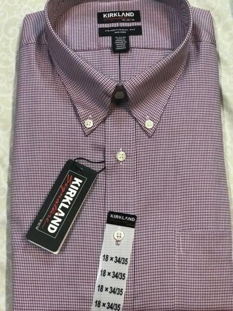 Mens Kirkland Signature Traditional Fit Non Iron Long Sleeve Dress Shirt Variety