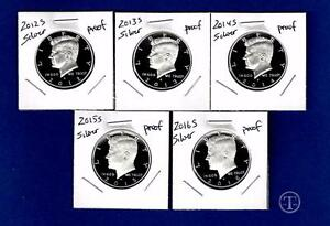 2015 S  AND 2016 S  90/% SILVER PROOF Kennedy Half Dollar Set-Two Coins