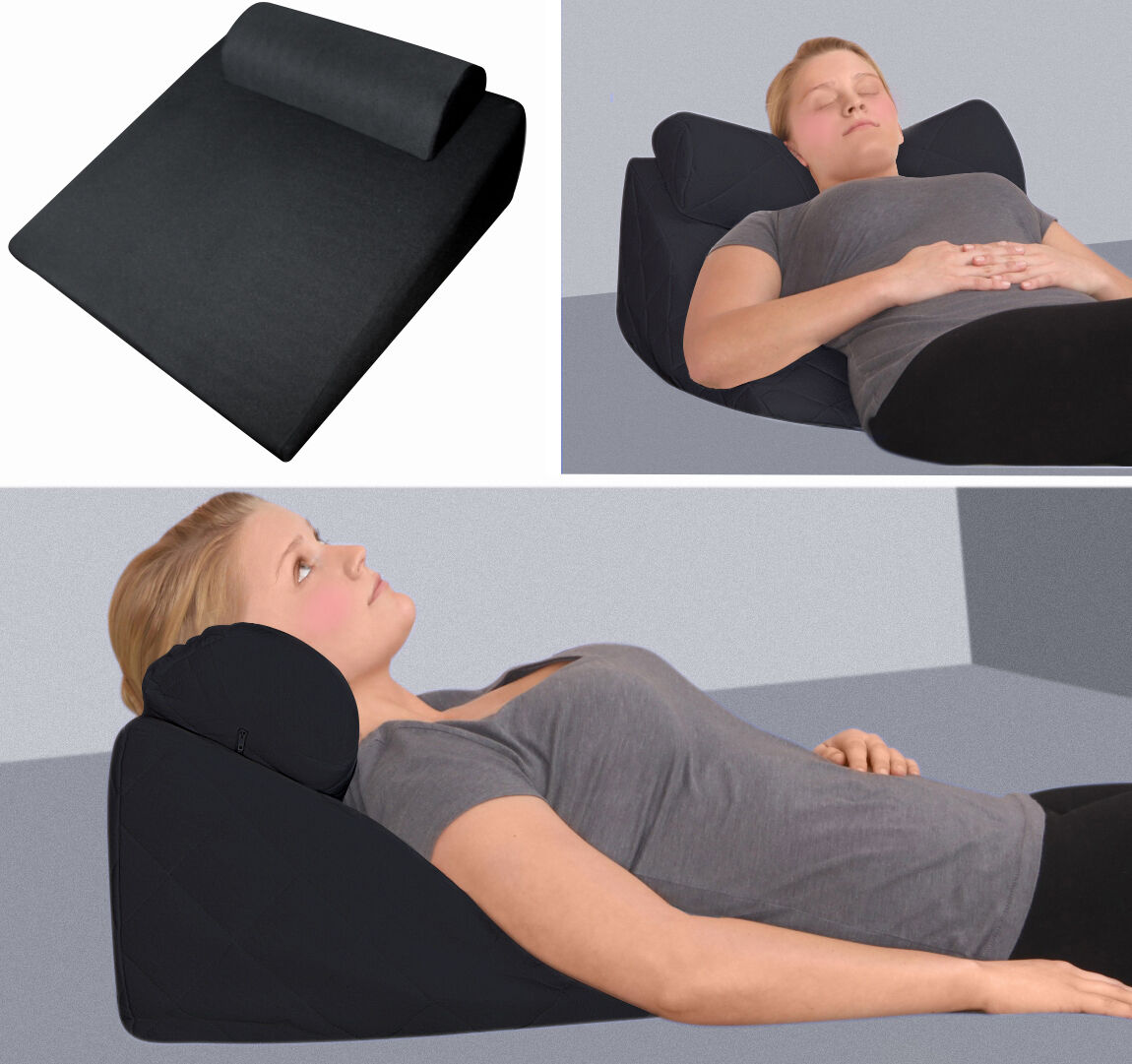 Gel Foam Refluxil Wedge Pillow For Reading Support Neck