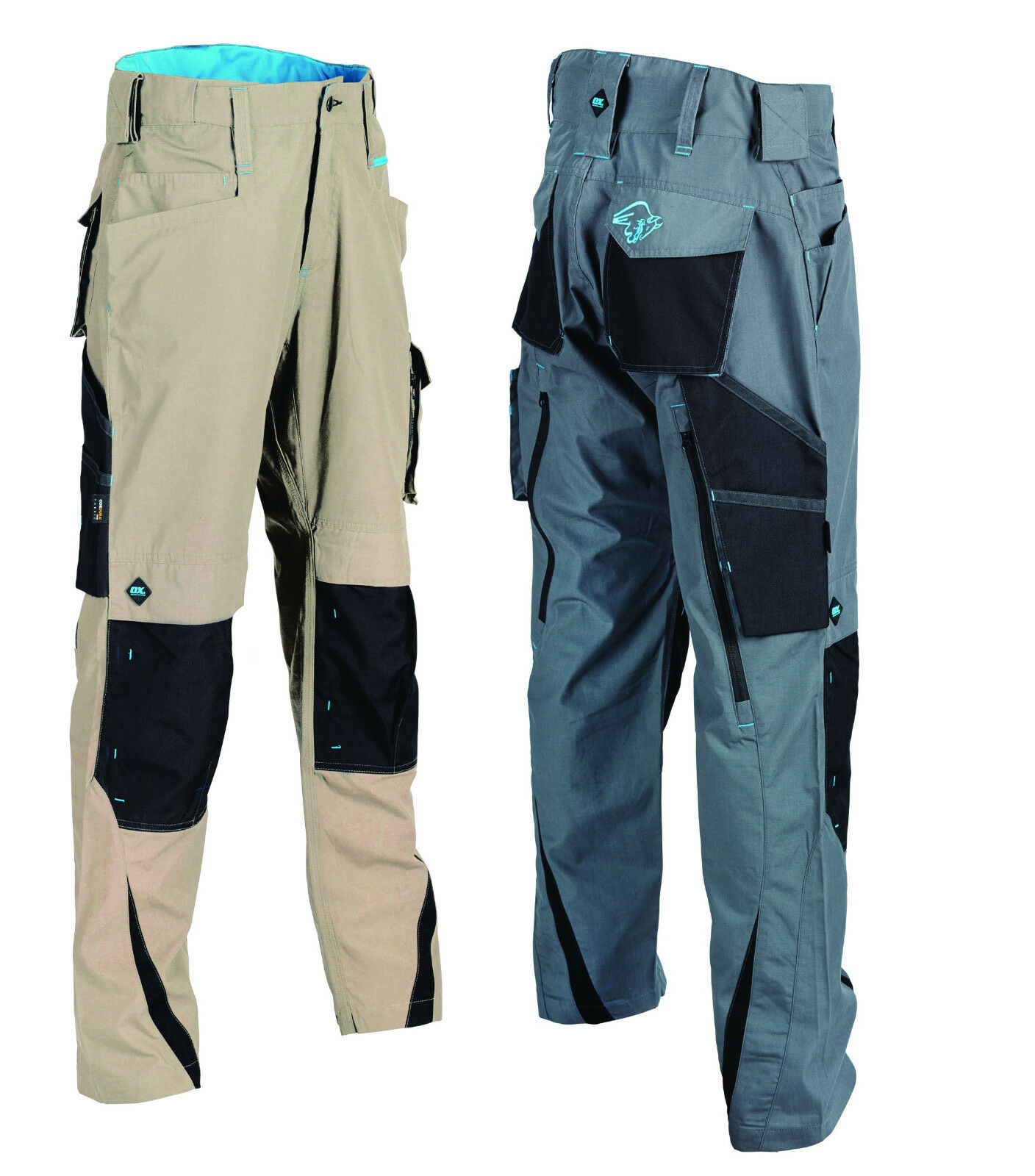 Ox Tools Work Trousers Lightweight Ripstop Durable Reinforced Anti Rip Workwear