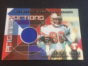 bb9704b76 Jerry Rice 2002 Topps Pristine Game Used Jersey 49 ers FREE SHIP