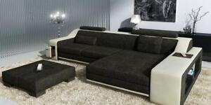 Alerte Design Canapé Sofa Canapé Coussin Siège Coin Salon Canapés En Cuir Textile Belzig Bb-afficher Le Titre D'origine