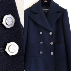 Chanel-button-1-pieces-metal-Logo-CC-size-23-mm-1-inch-black-dark-silver