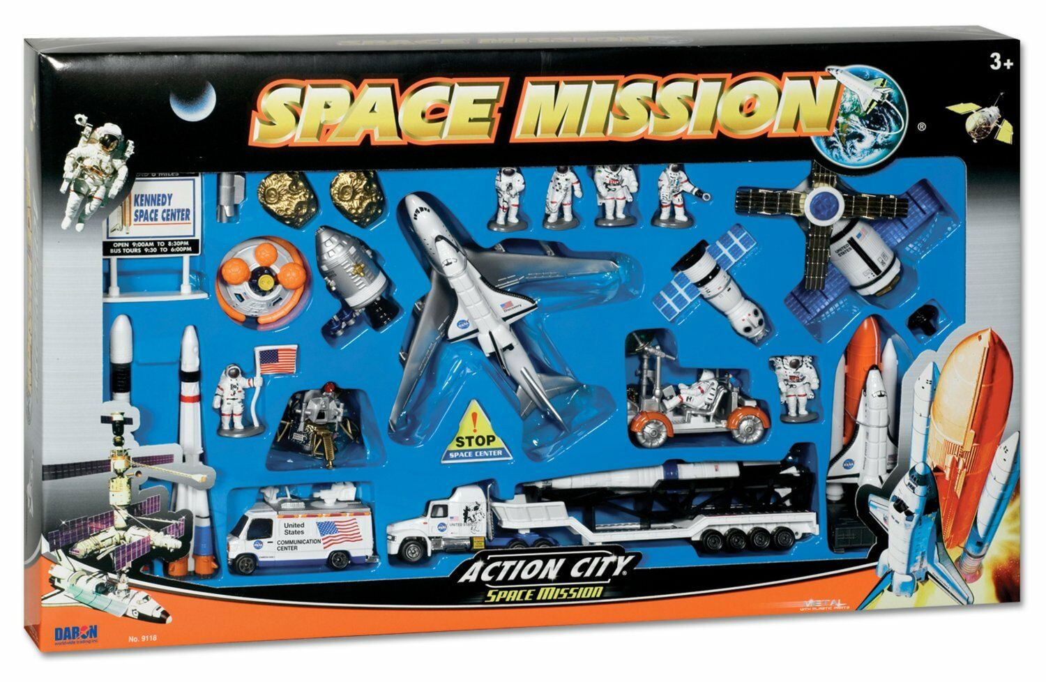Space Shuttle with Kennedy Space Center Sign 28 Piece , New, Free Shipping