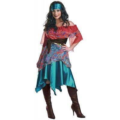 Bohemian Babe Gypsy Fortune Teller Costume Halloween Fancy Dress