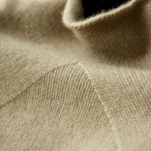 Women/'s Turtleneck Winter Warm Knitted Wool Pullover Cashmere Sweater Jumper