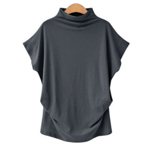 Plus Size Women Short Sleeve T Shirt Blouse Batwing Sleeve Loose Casual Top Tee