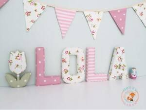Fabric-Letters-Decorative-Wall-Art-Personalised-Nursery-Padded-Boy-Girl