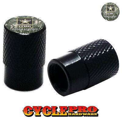 057 SHERIFF STAR BADGE 2 Black Billet Knurled Tire Valve Cap Motorcycle