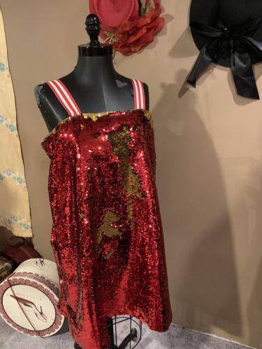 Plus Size Sequin 1980's Men's Women's Dress