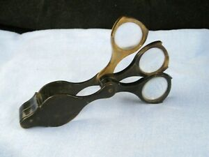 VICTORIAN-ANTIQUE-MULTI-MAGNIFYING-READING-GLASS-POCKET-TRAVELLING-TOOL-LOUPE-X3