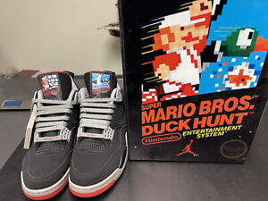 Details about Air Jordan 4 Retro Super Mario Bros Duck Hunt Nintendo Size 9 US Rare