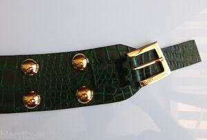 CEINTURE DOLCE GABBANA à boucle cuir façon crocodile vert T 90 100 ... 7a1a10cd044