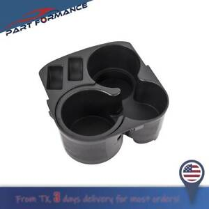 FOR 2007-2012 Nissan Altima Center Console Cup Holder w Insert Drink Black