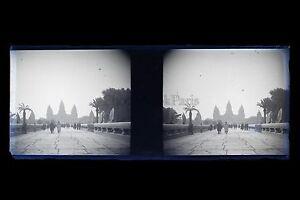 Exposition-Coloniale-de-Paris-1931-Temple-d-039-Ankor-Plaque-stereo-NEGATIF