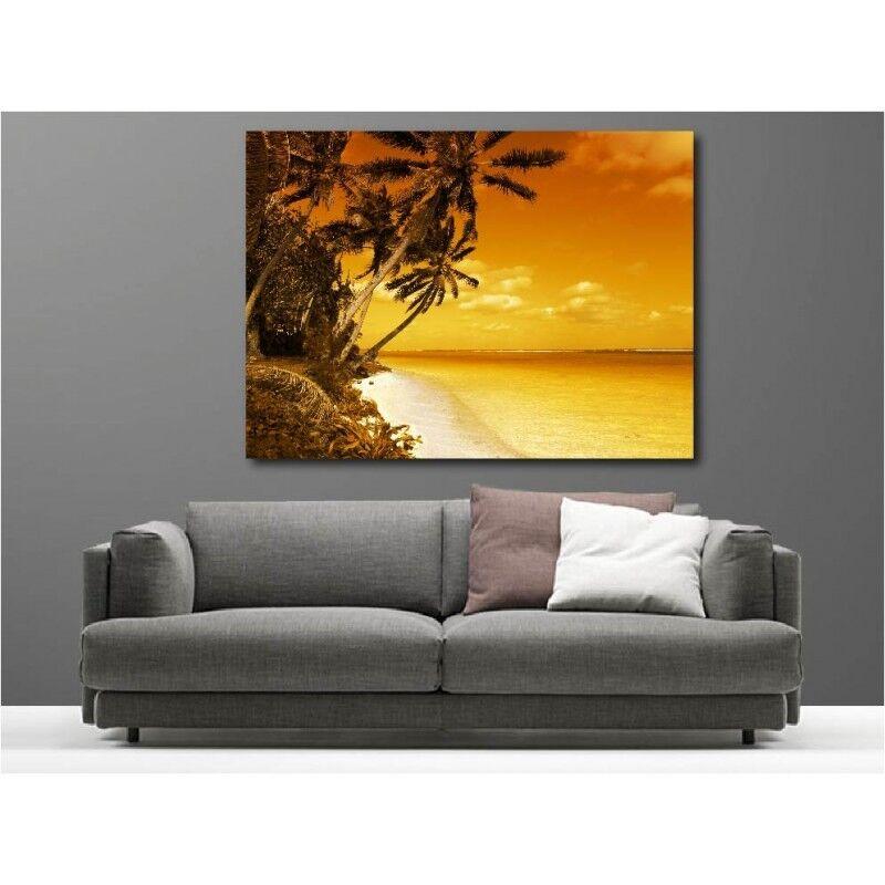 Cuadro tela decoración Palmera playa acostado acostado playa del sol 1612679 145797