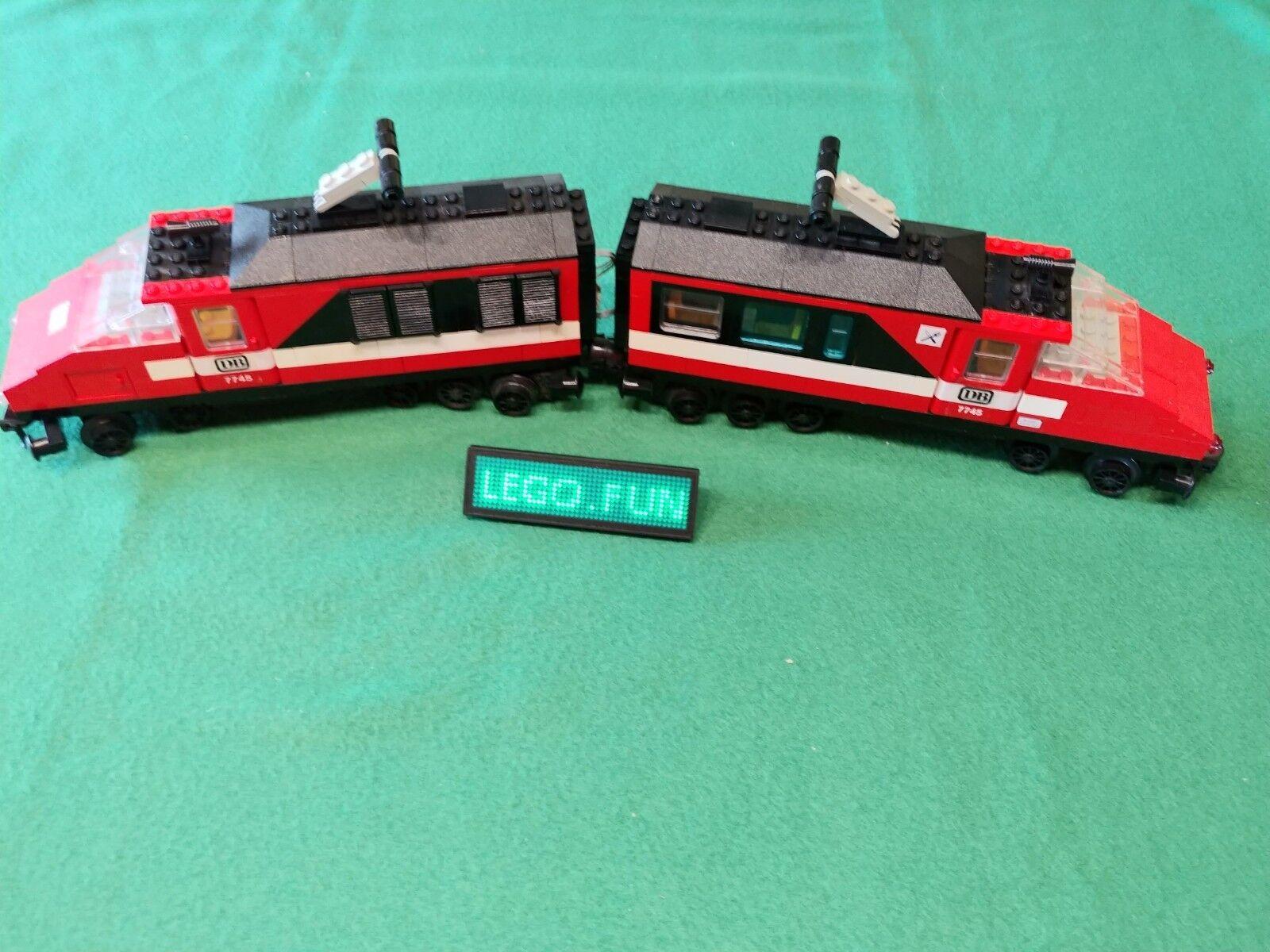 Lego ® 12 v 7745 train rapide avec moteur ferroviaire Passenger Train with moteur train