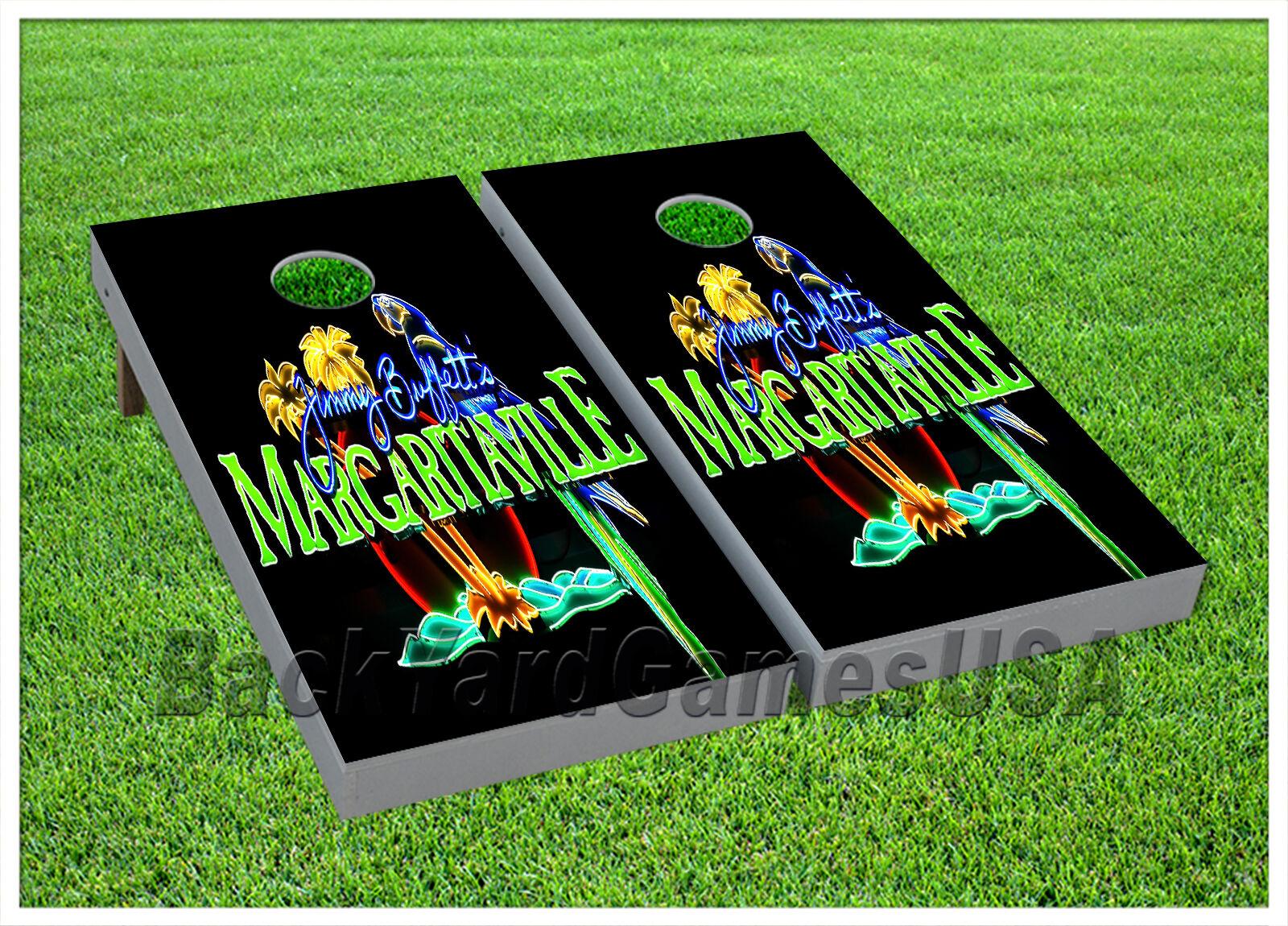 VINYL Margaritaville Vacation Paradise WRAPS CORNHOLE BEANBAG Boards 957