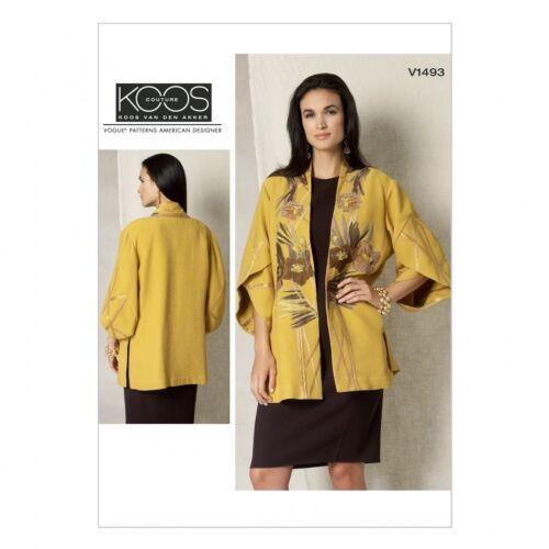 Vogue - 149... Vogue femmes sewing pattern 1493 Tulip Banded manches kimono Veste