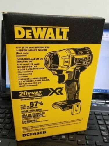 DEWALT DCF895B 20V Lithium Ion Brushless 3-Speed 1 4-Inch Impact Driver DCF887b