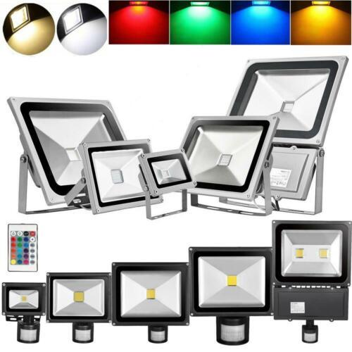 10W 20W 50W 100W 300W LED Fluter Mit Bewegungsmelder Außen Strahler Scheinwerfer