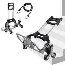 Portable Stair Climbing Folding Cart Hand Truck 6 Crystal Wheel Climbing Ropes