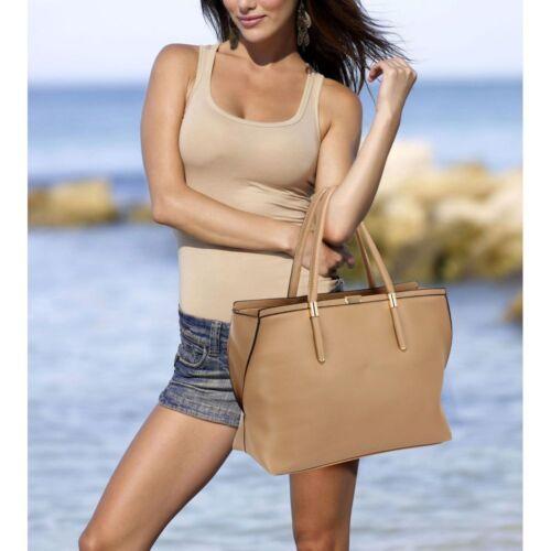 New Women/'s Designer Style Shoulder Tote Handbag Ladies Fashion Faux Leather Bag