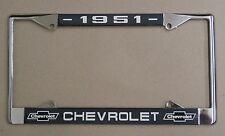 51 1951 Chevy car truck Chrome license plate frame
