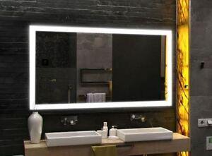 80x60 cm lux badspiegel mit led beleuchtung wandspiegel badezimmerspiegel ebay. Black Bedroom Furniture Sets. Home Design Ideas