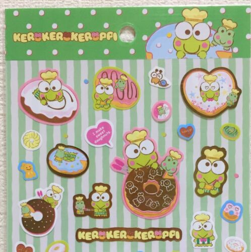 Kawaii Lovely Sanrio Character Kero Kero Keroppi Sticker Sweets Donut Frog JAPAN