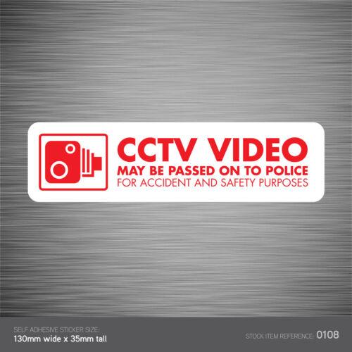Go Pro Dashcam CCTV SKU108 In Vehicle Camera Recording Car Sign Sticker