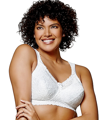 Playtex 18-hour Cooling-comfort Wire-free White 4088 Msrp-$36.00 42dd Packing Of Nominated Brand Modest New Bra