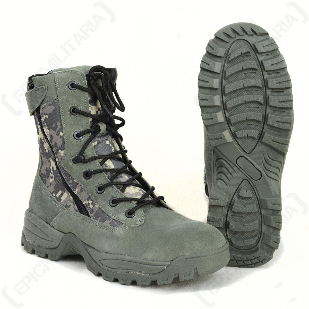 Digital Camuflaje Táctico Ejército botas Zapatos De Invierno - 2 cremalleras militar Todas las Tallas Nuevo