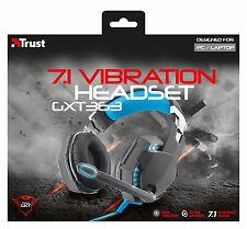 TRUST 20407 GIOCO gxt363 SERIE 7.1 SURROUND SOUND BASS CUFFIE USB vibrazione