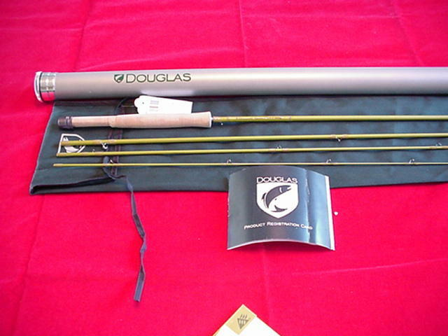 Douglas Outdoors 8ft Upstream Graphite Fly Rod 4 Piece  2 Line GREAT NEW