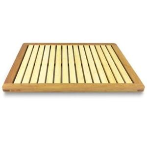Image Is Loading SereneLife Bamboo Bath Mat Heavy Duty Natural Wood