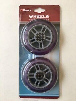 NEW Razor Wheels with Bearings Set of 2 Purple Item # 134932-PU