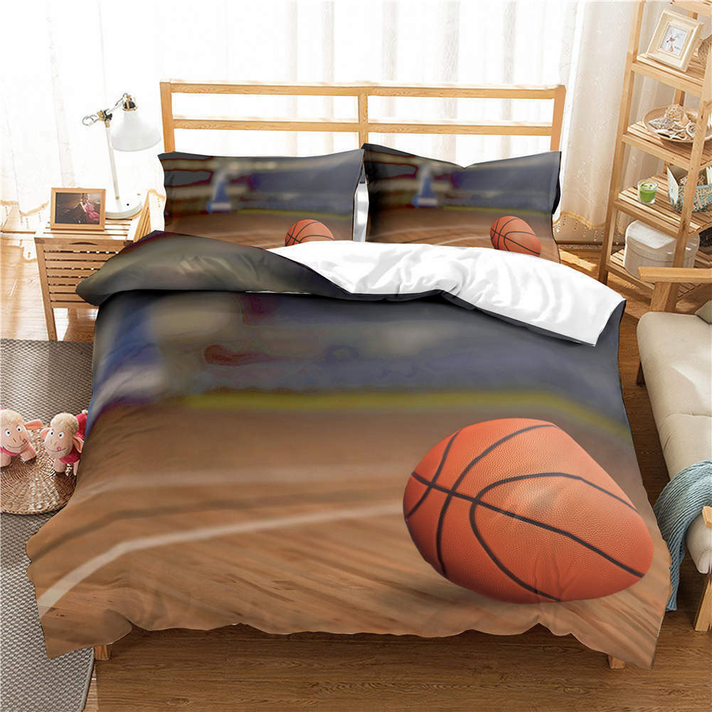 Floor Basketball 3D Druckening Duvet Quilt Will Startseites Pillow Case Bettding Sets