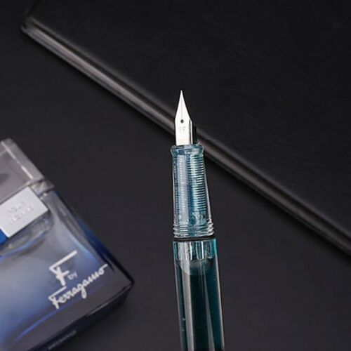 Colorful Transparent Fountain Pen Fine Nib Students Supplies Writing Stationery