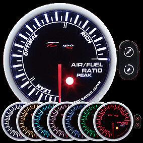fuel ratio gauge peak warning PK-SC6077B not a wideband 60mm Depo Racing air