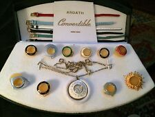 Antique Ardath Antichoc 21 Jewel Swiss Watch Convertible Set & Case-Working