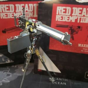 Red Dead Redemption II (Metal Earth Maxim Gun + Black Stiker)  Very Rare