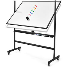 Costway Height Adjust 48x36 Mobile Magnetic Double Sided Reversible Whiteboard