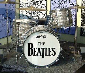 The Beatles 64 US Tour Repro Logo Decal Set For 22 Bass Drum Head